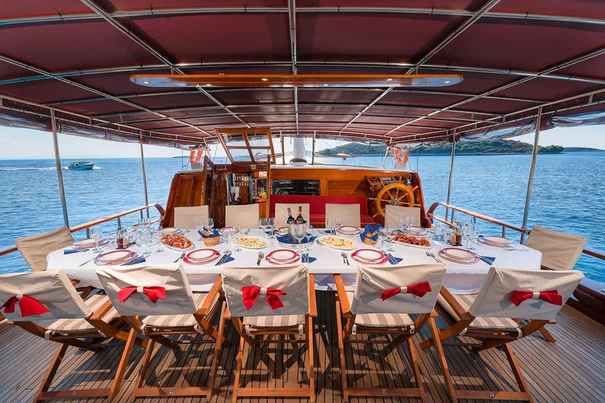 CROATIA Dining area on Aft deck